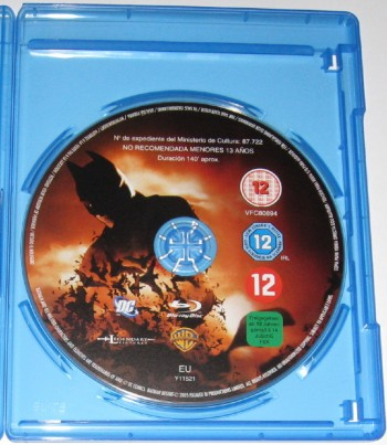 Batman Begins disque Blu-Ray