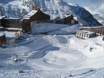 crop circle dans la neige