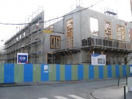 La futur Salle de Spectacles de la Garenne-Colombes depuis la rue Louis Jean
