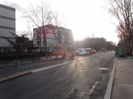 véhicules de pompiers avenue de Verdun