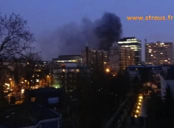 incendie d'un bus à La Garenne-Colombes