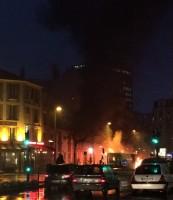 incendie d un bus RATP place de Belgique, la Garennne-Colombes
