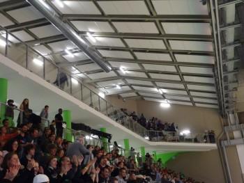 La nouvelle tribune du palais des sports Maurice Thorez de Nanterre