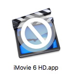 icone iMovie 6 HD sur MacOS 10.13